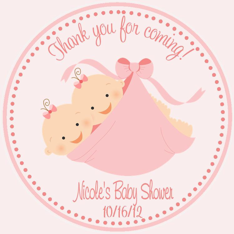 twin baby shower favor tags sweetdesignsbyregan