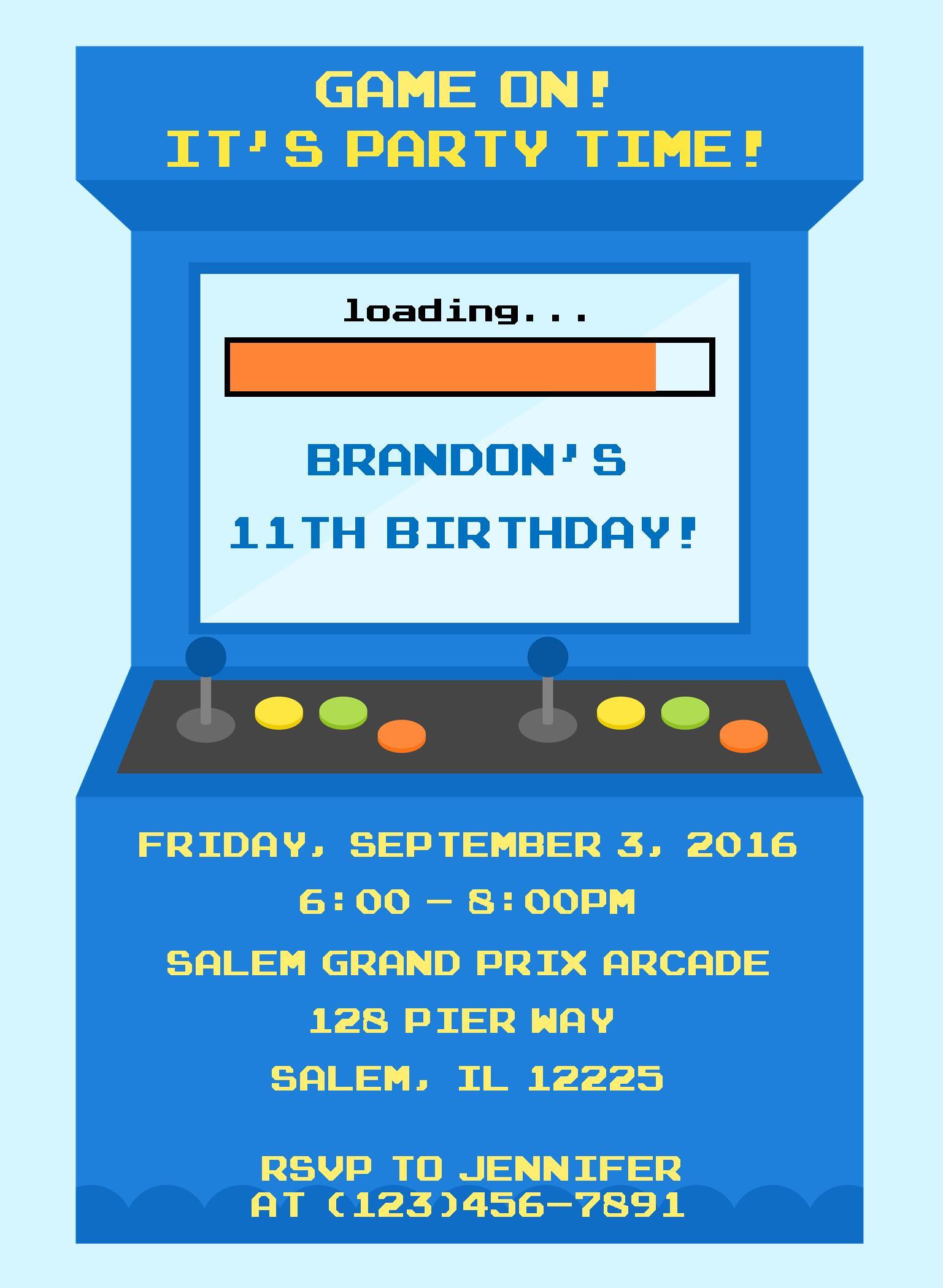 American Ninja Warrior Birthday Invitation | sweetdesignsbyregan