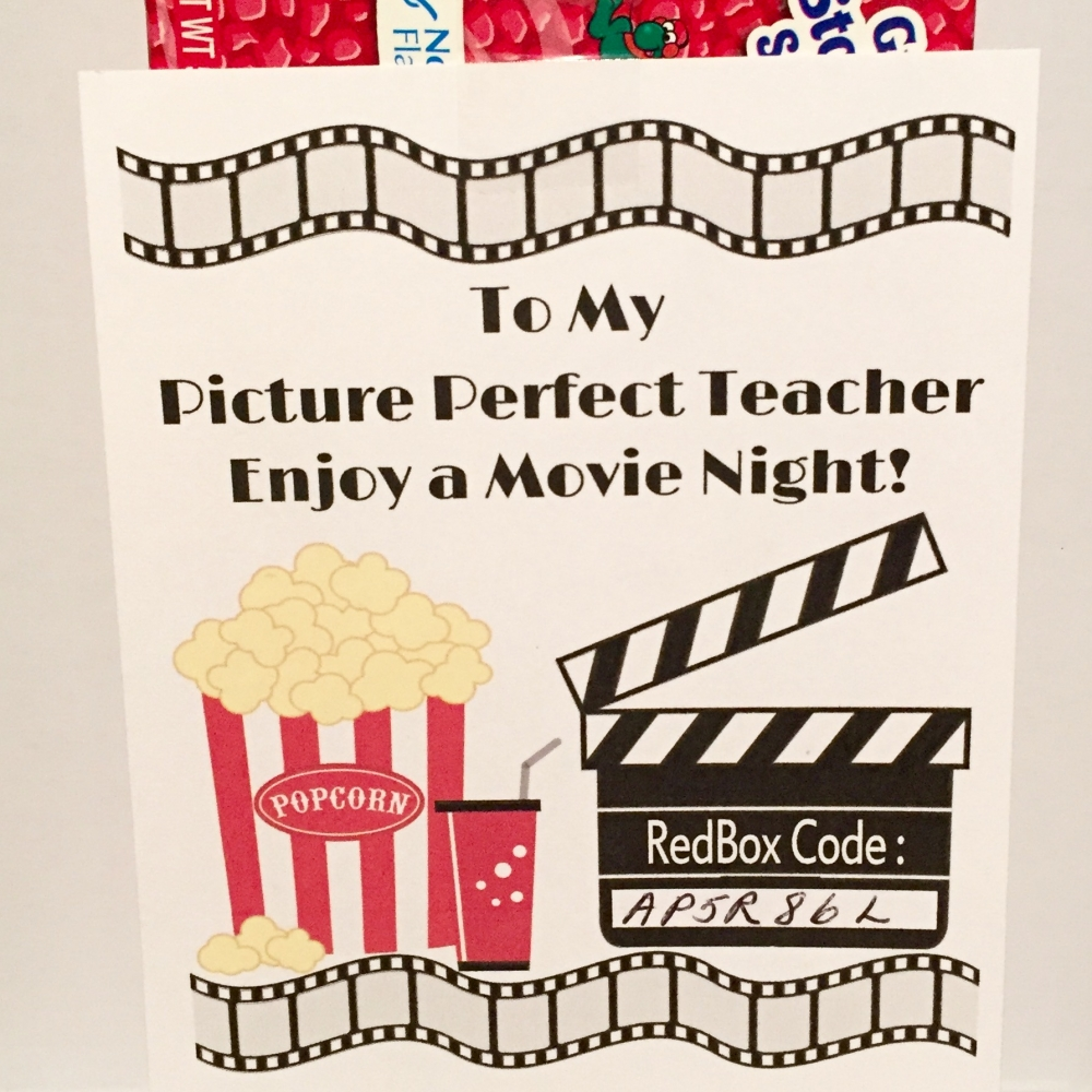 image about Redbox Printable named Redbox Printable Instructor Appreciation Present Tag - Do-it-yourself - Printable History