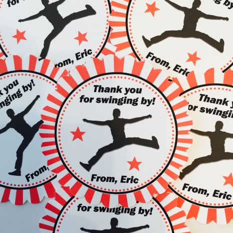 American Ninja Warrior Party Favor Tags