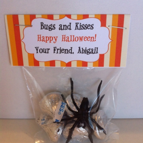 image relating to Bugs and Kisses Printable named Printable Halloween Deal with Bag Topper ( Insects Kisses) - Do-it-yourself Electronic Document - Oneself Print