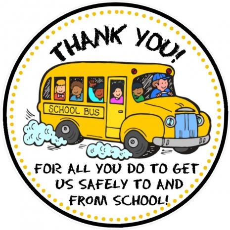 School Bus Driver Thank You Tags - Bus Driver Appreciation ...