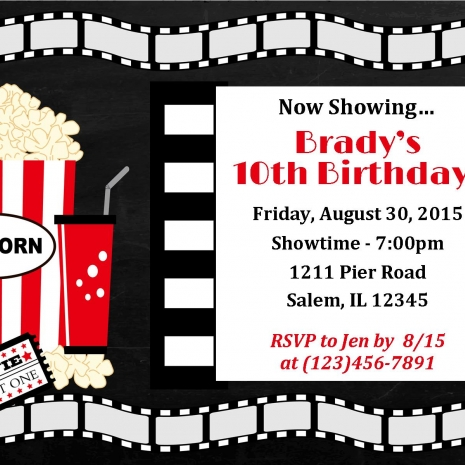 Movie Birthday Party Invitations Sample Law Enforcement Resume – Movie Night Birthday Party Invitations