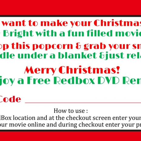 image about Free Printable Redbox Gift Tags identify Redbox Printable Xmas Prefer Tag - Do it yourself - Printable Document