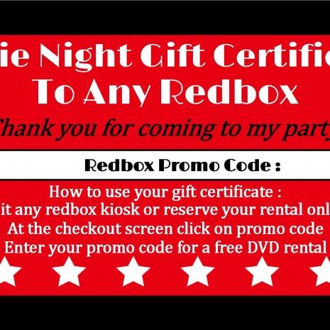 RedBox Party Favor | sweetdesignsbyregan