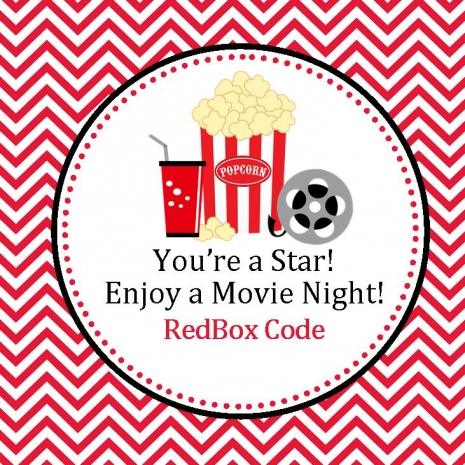 RedBox Favor Tags