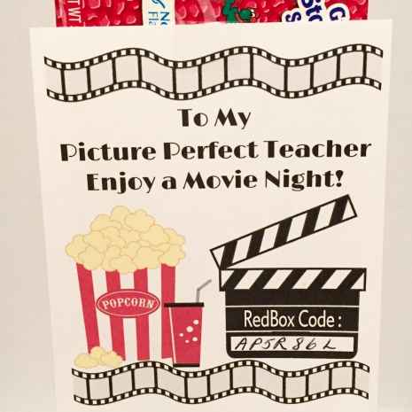 picture about Popcorn Teacher Appreciation Printable called Redbox Printable Trainer Appreciation Present Tag - Do-it-yourself - Printable Report