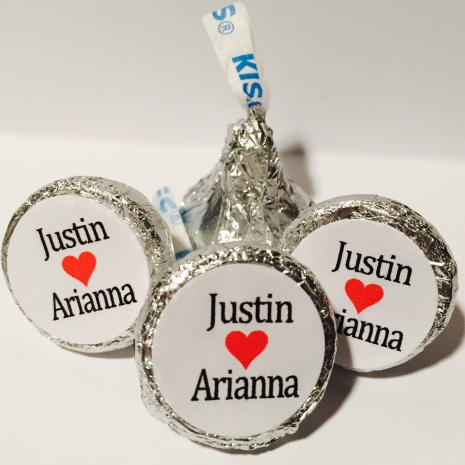 Hershey Kiss Stickers - Personalized Wedding Favors ...