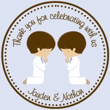 First Communion Favor Twin Boys
