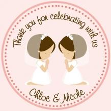 Twin Girls First Communion Favor