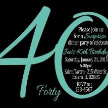 30th, 40th, 50th, Milestone Birthday Invitation