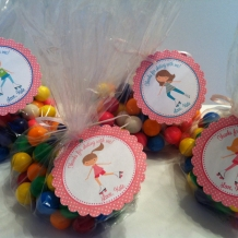 Rollerskating Birthday Party Favor Bags