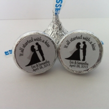 Hershey Kiss Stickers - Wedding Favor