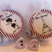 Paris Themed Favor Bag Set