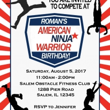 American Ninja Warrior Invitation