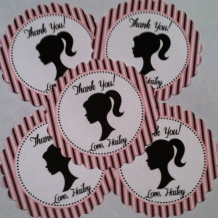 Barbie Doll Favor Tags