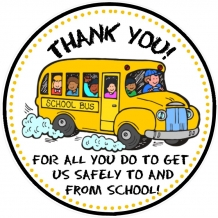 School Bus Driver Thank You Tags