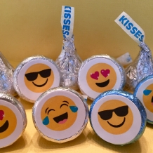 Emoji Hershey Kiss Stickers