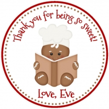 Gingerbread Favor Tag