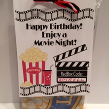 RedBox Printable Birthday Gift Tag