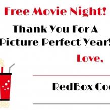 RedBox Printable Gift Tag