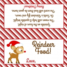 Reindeer Food Treat Bag Topper - Printable File