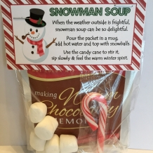 Snowman Soup - Treat Bag Topper