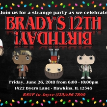 Stranger Things Birthday Invitation