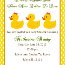 Triplet Shower Invitation
