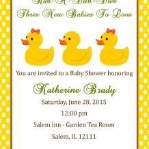Triplet Shower Invitation