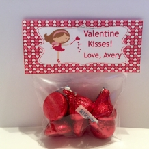 Valentine Kisses - Treat Bag Topper