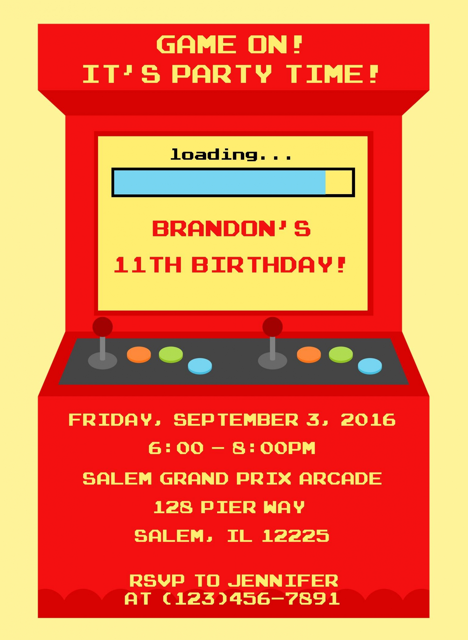 Arcade Birthday Party Invitations Images Wedding And Party – Arcade Party Invitations