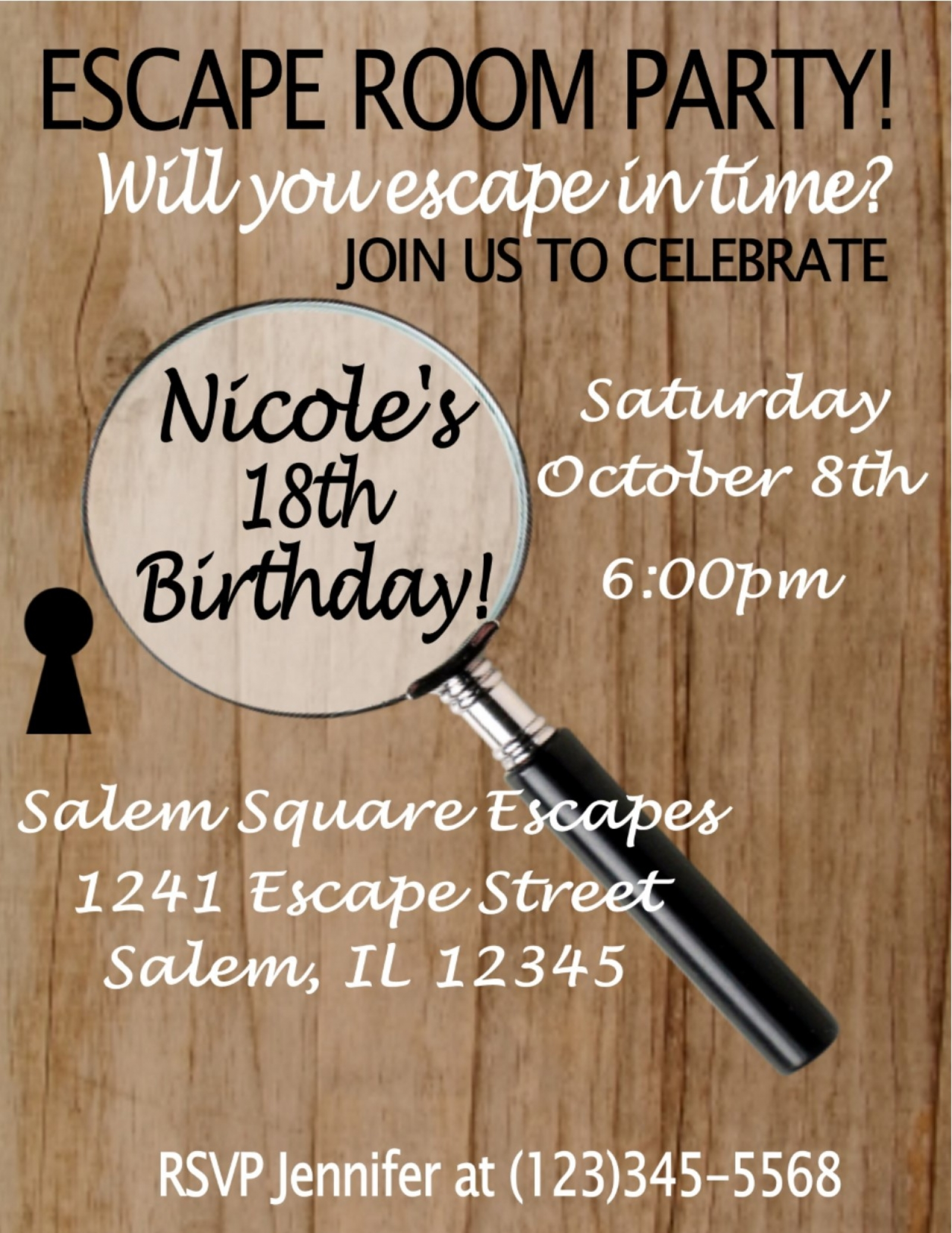 Escape room party invitation sweetdesignsbyregan for Escape room party