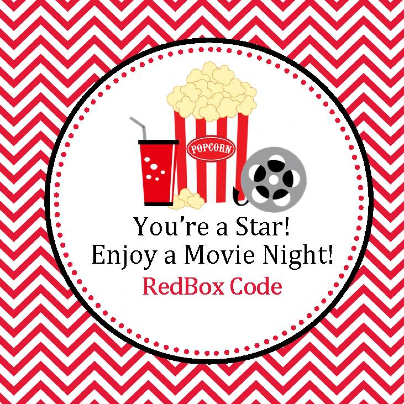 graphic about Redbox Printable named RedBox Printable Want Tags - RedBox Favors