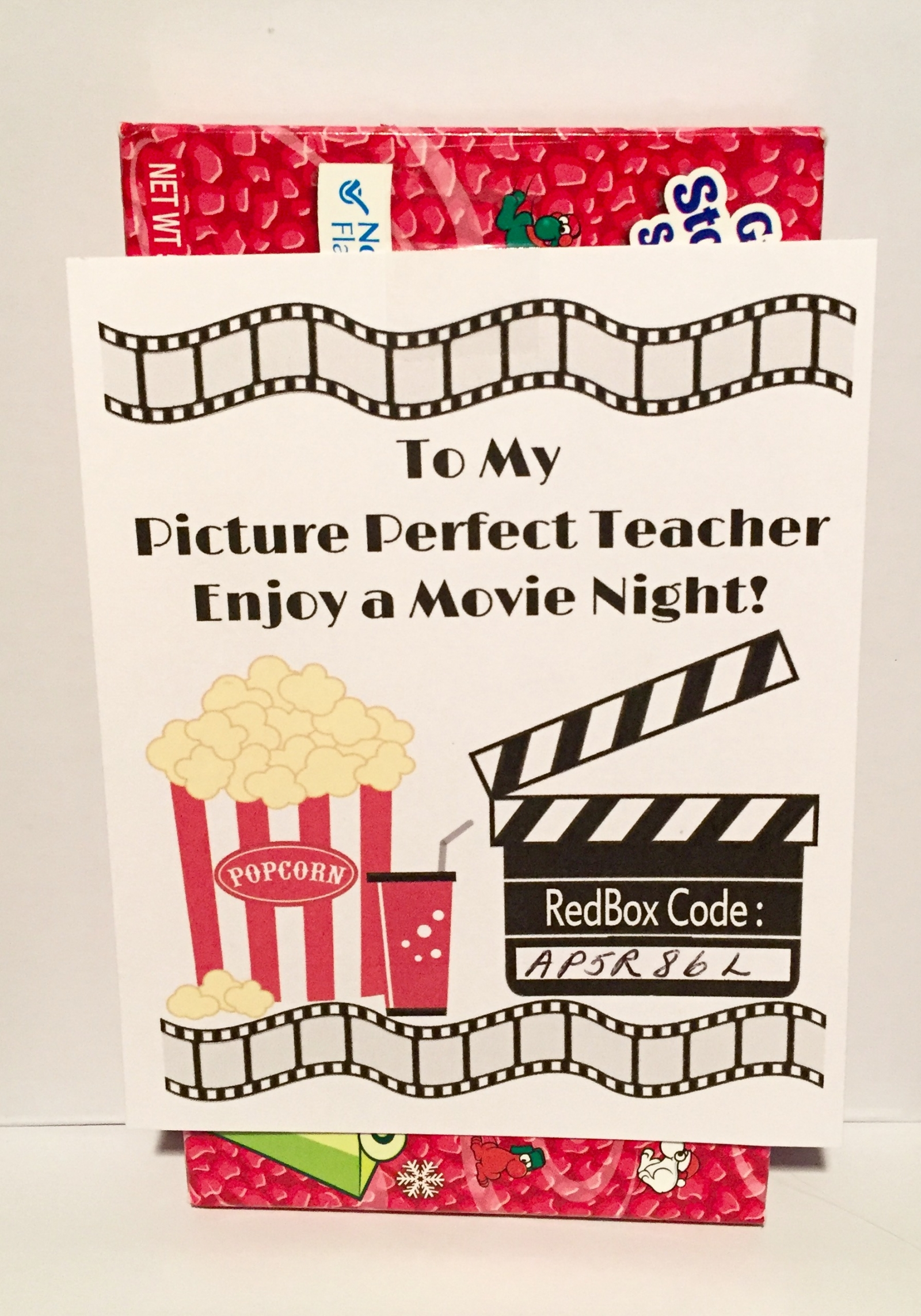 photograph regarding Redbox Teacher Appreciation Printable known as Redbox Printable Trainer Appreciation Present Tag - Do it yourself - Printable History