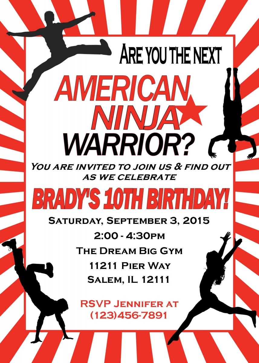 American Ninja Warrior Birthday Party | sweetdesignsbyregan