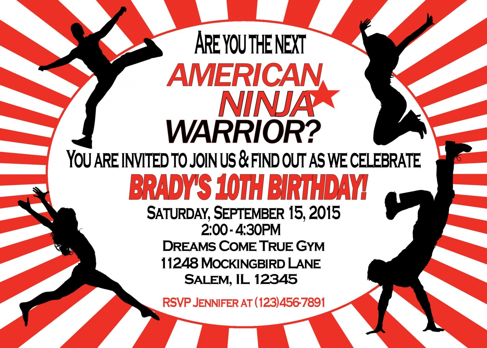 American Ninja Warrior Birthday Party   sweetdesignsbyregan