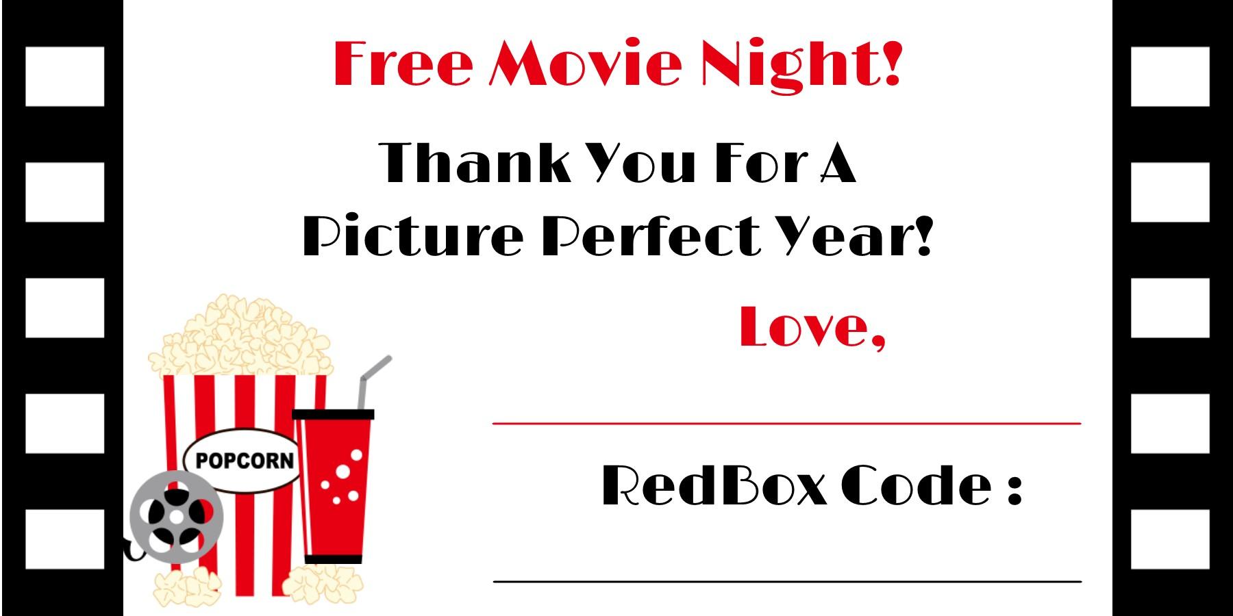 Redbox Printable Gift Tag Redbox Printable Tag Redbox Teacher Gift