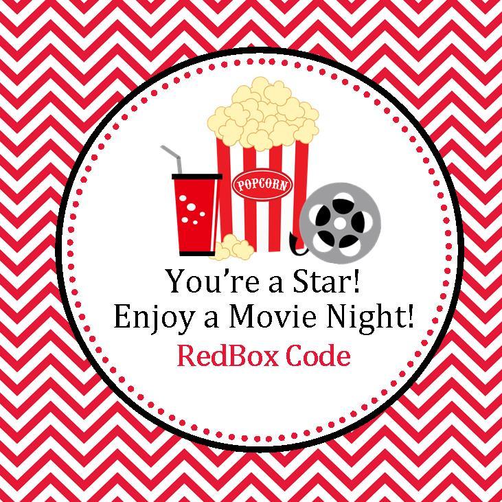Redbox Printable Gift Tags | sweetdesignsbyregan